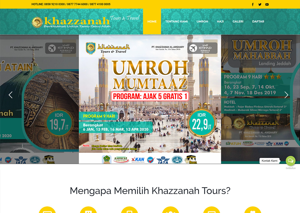 website khazzanahtours.com